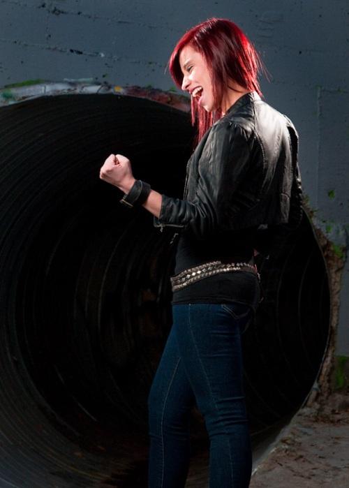 rubi in punkrock mode