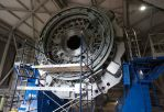 The back side of the Discovery Channel Telescope shown partly disassembled after a recent cleaning. (Taylor Mahoney/Arizona Daily Sun)