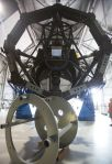 The Discovery Channel Telescope, mirror freshly cleaned, waits to be reassembled in the dome that houses it outside of Flagstaff. (Taylor Mahoney/Arizona Daily Sun)