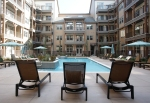 A view from the pool at the Village at Aspen Place.