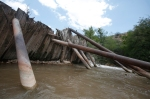 Brewer's Tunnel Diversion Dam on the Verde River was built in 1914 by the United Verde Copper Company.