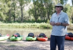 Before he leads kayak trips down the Verde River, Verde River Institute Director Doug Von Gausig talks about the history of the rare desert river, as well as the efforts underway to preserve it.