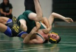 Dalton Davis of Flagstaff High competes in the 145-pound weight class during the Peaks wrestling tournament Saturday.